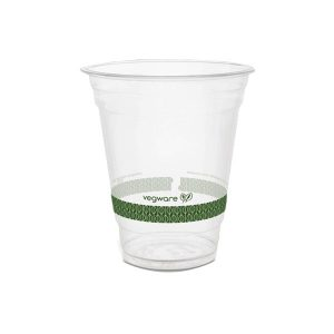 Vaso Descartable Compostable PLA Vegware 350 o 470 ml Cristal